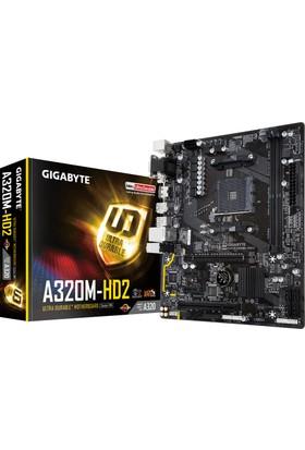 Gigabyte GA-A320M-HD2 Amd Ryzen DDR4 ATX 3200+(OC) Anakart