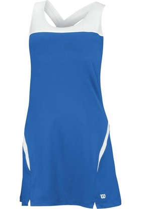 Wilson Elbise Girls' Team Dress - Beyaz/Mavi (XS) ( WRA740502 )