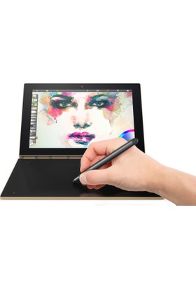 """Lenovo Yogabook YB1-X90F 64GB 10.1"""" FHD IPS İkisi Bir Arada Bilgisayar - Gold ZA0V0059TR"""