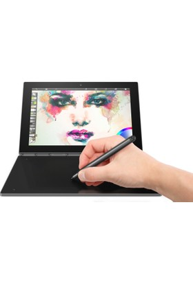 "Lenovo Yogabook YB1-X90L 64GB 10.1"" FHD IPS 4.5G İkisi Bir Arada Bilgisayar - Gri ZA0W0017TR"