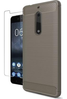KılıfShop Nokia 5 Heavy Duty Tam Koruma Kılıf + Ekran Koruyucu
