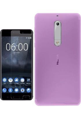 KılıfShop Nokia 5 Silikon Kılıf + Ekran Koruyucu