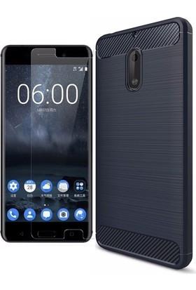 KılıfShop Nokia 6 Heavy Duty Tam Koruma Kılıf + Nano Ekran Koruyucu