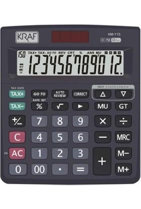 Kraf Hesap Makinesi Masaüstü 12 Hane Tax Hm-115