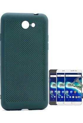 Teleplus General Mobile GM 6 Delikli Kapak Kılıf + Tam Kapatan Cam Ekran Koruyucu