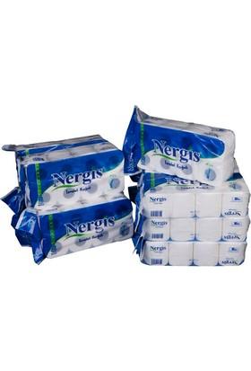 Nergis 8'li Tuvalet Kağıdı 8 Rulo 48 adet