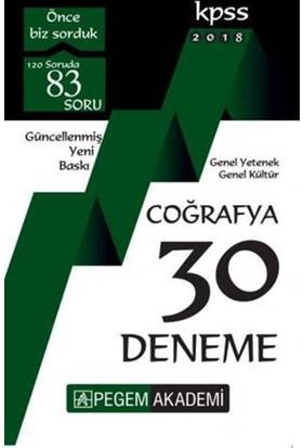 Pegem Akademi 2018 Kpss Genel Yetenek : Genel Kültür Coğrafya 30 Deneme - ÖNDER CENGİZ