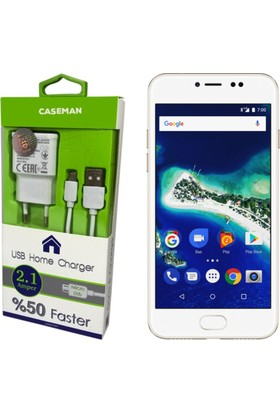 Case Man General Mobile GM 6 Şarj Aleti + Data Kablosu Ev Tipi Hızlı Şarj Özellikli