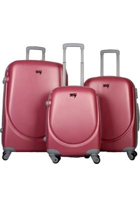 My Luggage Dayanıklı Sert Yüzey (Büyük Boy)Valiz Pembe 10111