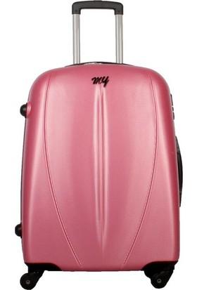 My Luggage Dayanıklı Sert Yüzey (Orta Boy) Valiz Pembe 10122