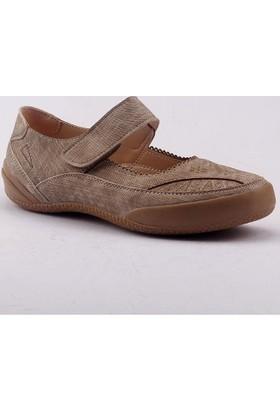 Caprito 436 Cırtlı Ortopedik Yürüyüş Günlük Kadın Babet Ayakkabı