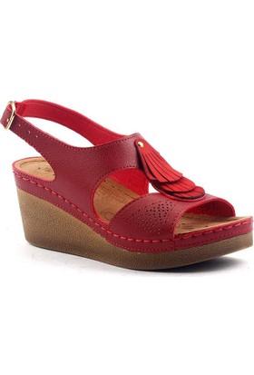 Jump 14760 Günlük Anatomik 6,5 cm Topuk Bayan Sandalet Ayakkabı