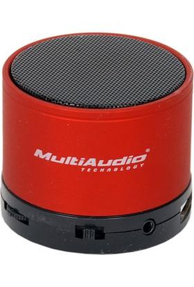 Kırmızı Mini Bluetooth Hoparlör Ses Bombası Radyolu Speaker