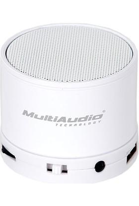Beyaz Mini Bluetooth Hoparlör Ses Bombası Radyolu Speaker