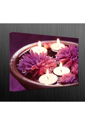 Duvar Tasarım DLC 1005 Candle Led Canvas Tablo - 70x50 cm