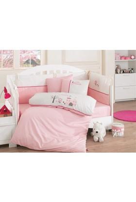 Cottonbox Lüx Nakışlı Bebek Uyku Seti Princess Pembe