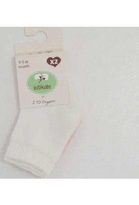 Kiti Kate 95675 2'li Organik Bebek Çorabı