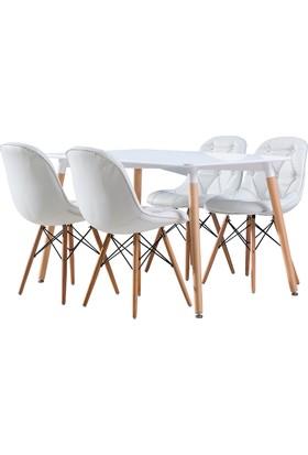 Hamdeko Masa Sandalye Takımı Beyaz