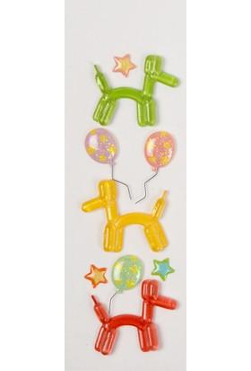 Coccomell El Yapımı Dekor Sticker Balon Köpek