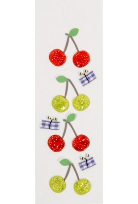 Coccomell El Yapımı Dekor Sticker Kiraz
