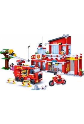Banbao Lego Oyun Seti 828 Parça İtfaiye İstasyonu