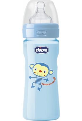 Chicco Wellbeing PP Renkli Biberon Erkek 250 ml Silikon Akış Ayarlı