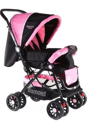 Diamond Baby P101 Çift Yönlü Lüks Bebek Arabası / Pembe