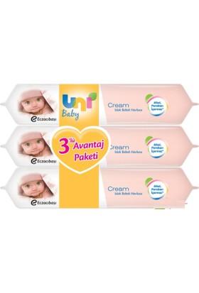 Uni Baby Cream Islak Havlu 3'lü Fırsat Paketi / 168 Yaprak