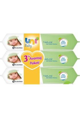 Uni Baby Natural Islak Havlu 3'lü Fırsat Paketi / 168 Yaprak