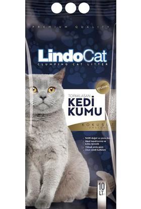 LindoCat Topaklaşan İri Taneli Kedi Kumu 10 Lt ( 2 Adet )