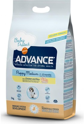 Advance Puppy Medium Tavuklu Köpek Maması 3 Kg