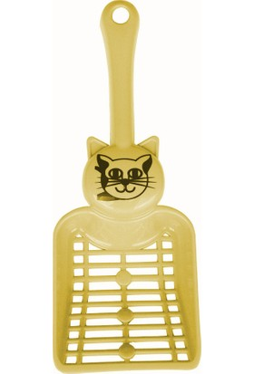 Percell Kedi Tuvaleti Küreği Sarı