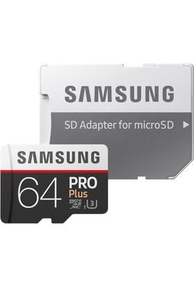 Samsung PRO Plus 64GB 100 MB/s microSDXC Kart (SD Adaptor) MB-MD64GA/EU