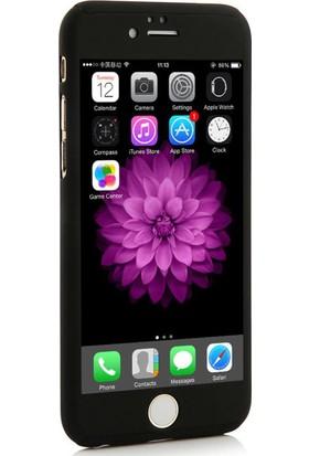 Case 4U Apple iPhone 6/6S Kılıf 360 Derece Koruma Siyah