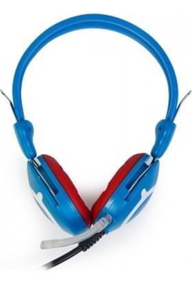 Redrock HP668B Mikrofonlu Kulaklık Mavi-Kırmızı