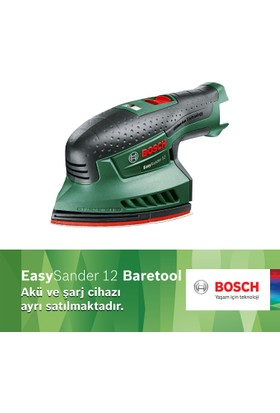 Bosch EasySander 12 Akülü Çok Amaçlı Zımpara Baretool (Akü ve Şarj Cihazı Dahil Değildir)