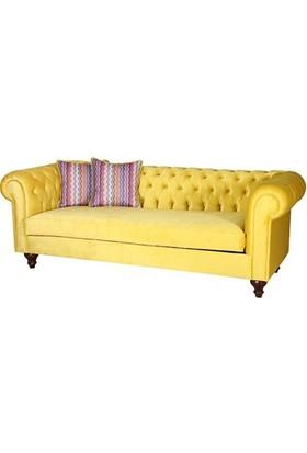 3A Mobilya Limon Küfü Sarı Chesterfield