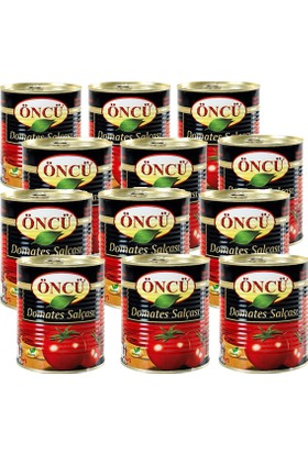 Öncü Domates Salça Teneke Kutu 830 gr 12'li Koli(Eko Paket)