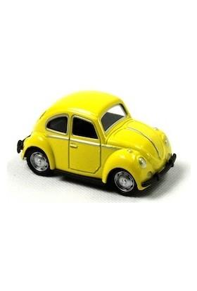1967 Volkswagen Beetle Metal Çek Bırak Model Minik Araba Sarı Tevulimma004