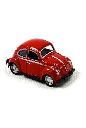 1967 Volkswagen Beetle Metal Çek Bırak Model Minik Araba Kırmızı Tevulimma007