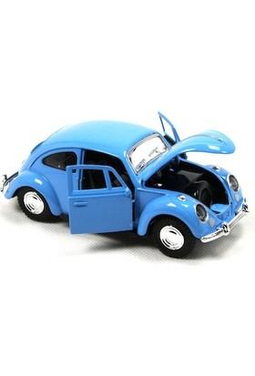 1967 Volkswagen Klasik Beetle Metal Çek Bırak Model Araba Mavi 13 Cm Tevulimma025