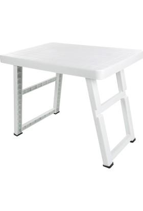 Modelüks Portatif Katlanır Masa Beyaz