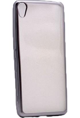 Case 4U Sony Xperia Xa Lazer Kaplamalı Silikon Kılıf Siyah