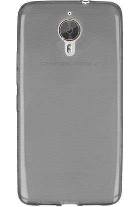 Case 4U General Mobile Gm5 Plus Soft Silikon Kılıf Siyah