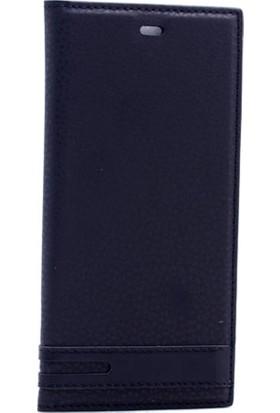 Case 4U Lenovo A6010 Gizli Mıknatıslı Kapaklı Kılıf Siyah