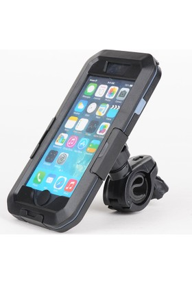 Case 4U Apple iPhone 6/6S/7/8 Su Geçirmez Bisiklet Telefon Tutucu