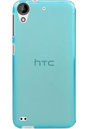 Case 4U Htc Desire 825 Ultra İnce Silikon Kılıf Mavi