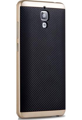 Case 4U Xiaomi Mi 4 Hybrid Korumalı İnce Arka Kapak Altın (Cam Ekran Koruyucu Hediyeli)