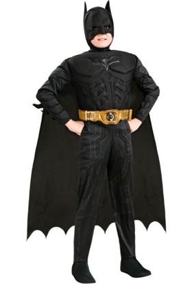 Batman Kara Şövalye Kas Gövdeli Lüks Çocuk Kostümü 7-8 Yaş