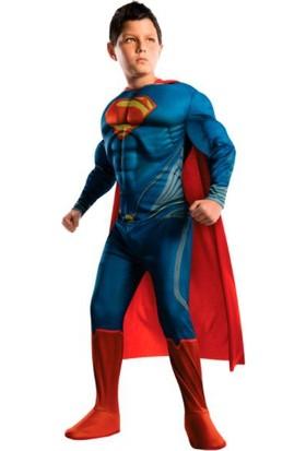 Superman Lüks Çocuk Kostümü 7-8 Yaş